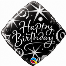 "Birthday Elegant Sparkles Foil Balloon (18"") 1pc"